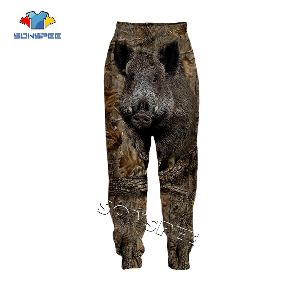 SONSPEE Animal Hunting Hunter 3D Print Harajuku Men Sweatpants Novelty Streetwear Women Fashion Casual Trousers Unisex Long Pant (2)
