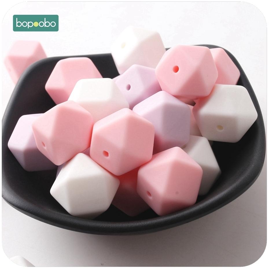 silicone beads hexagon