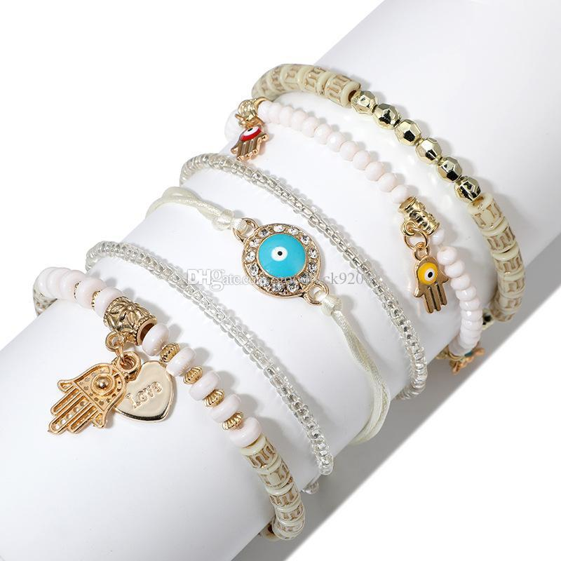 Bohemian Beaded Bracelets for Women Multilayer Stretch Stackable Bracelet Set Multicolor Jewelry