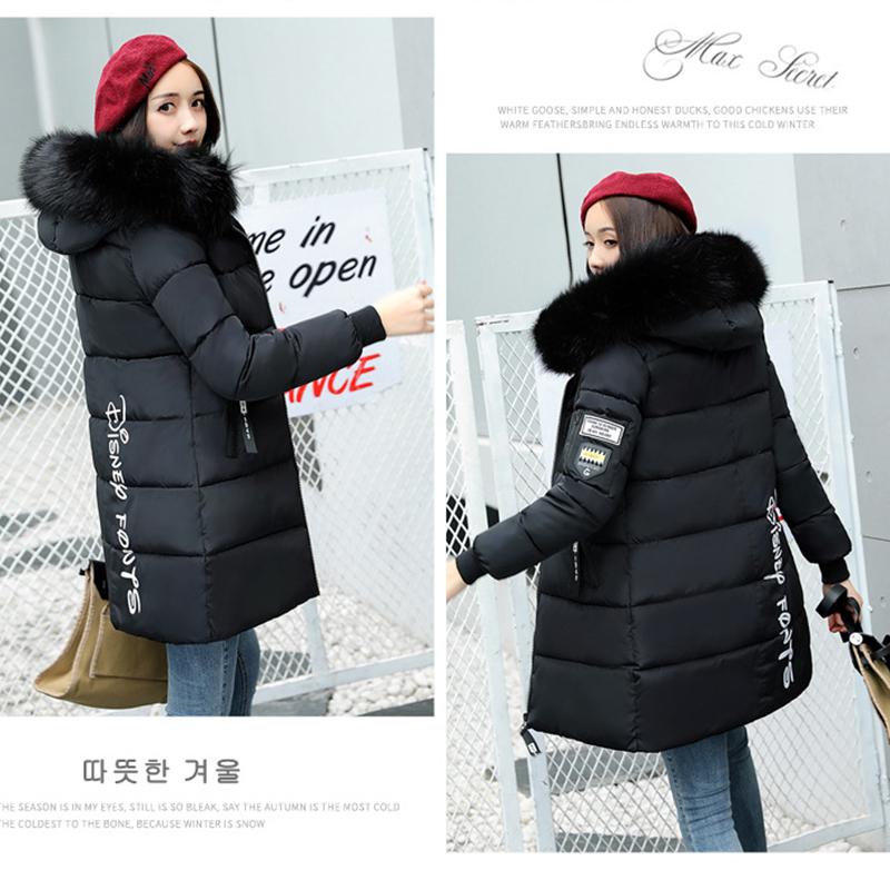STAINLIZARD Winter jacket women warm casual hooded long parkas women coat streetwear cotton white female jacket coat outwear new (24)
