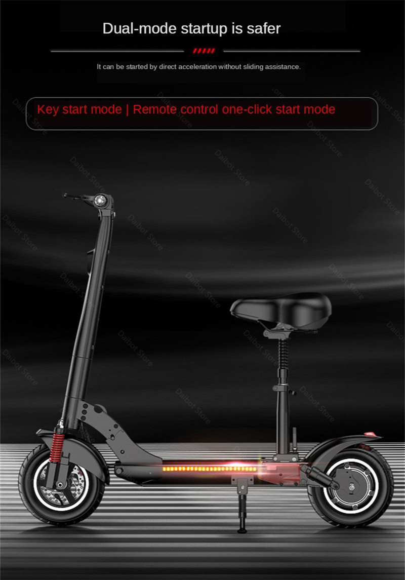 2020 Folding Electric Scooter Two Wheels Electric Scooters 10Inch 500W 48V 60KM Mini Electric Kick Scooter Adult With Bluetooth (21)