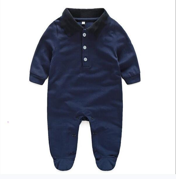 Hot Sell Newborn baby clothes Long sleeve designer 100% Cotton baby rompers Infant clothing baby boys girls jumpsuits + hat