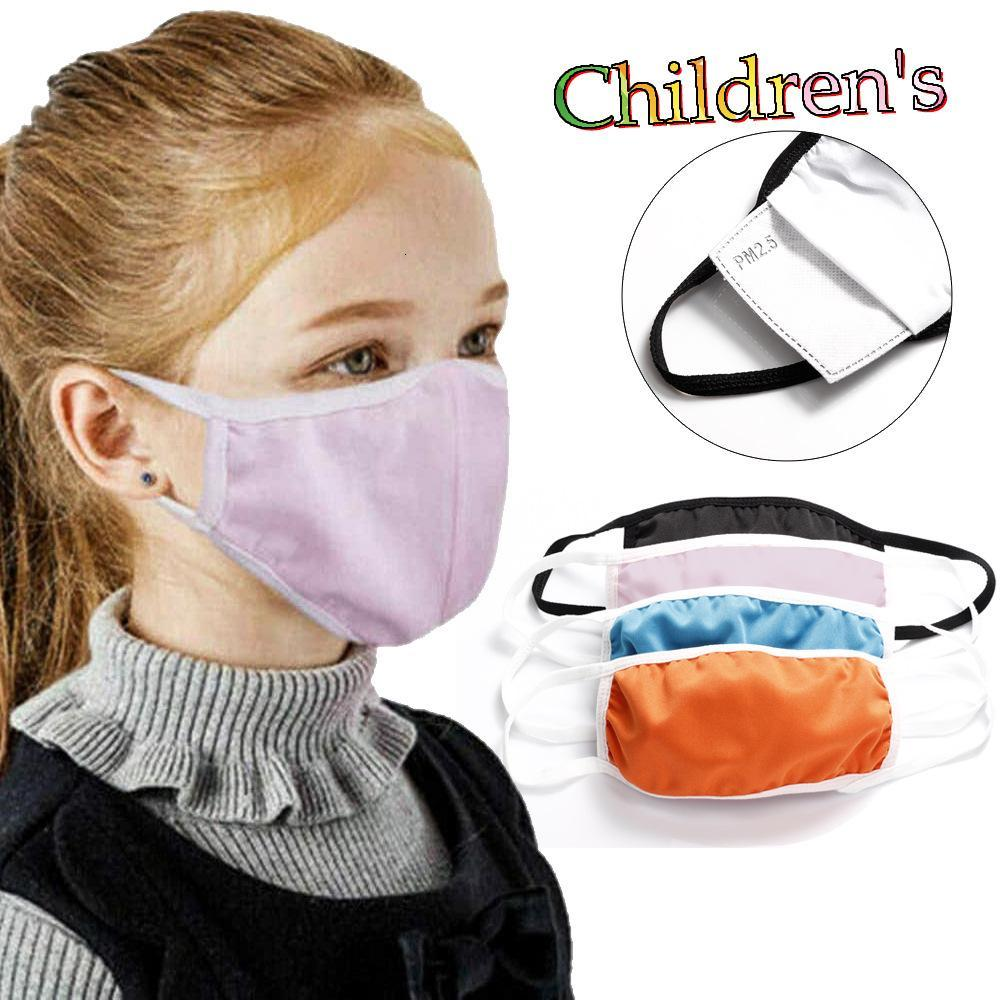 Designer face mask cover orange kid cotton masks child insert PM2.5 filter anti-smog dust-proof cross-border explosion fast DHL FREE SHIP