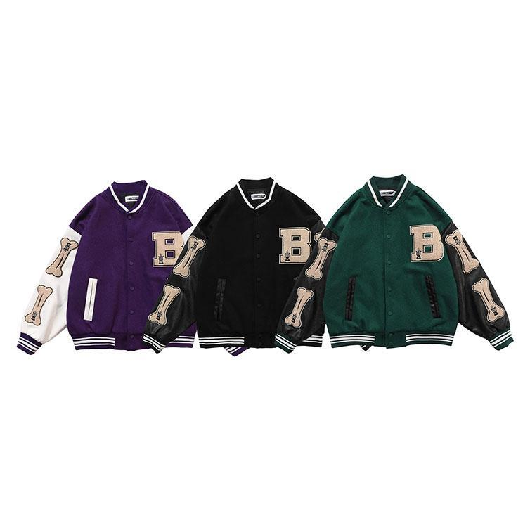 hiphop baseball jacket Men Turn-down Collar Streetwear Men's Jackets Jacket Man