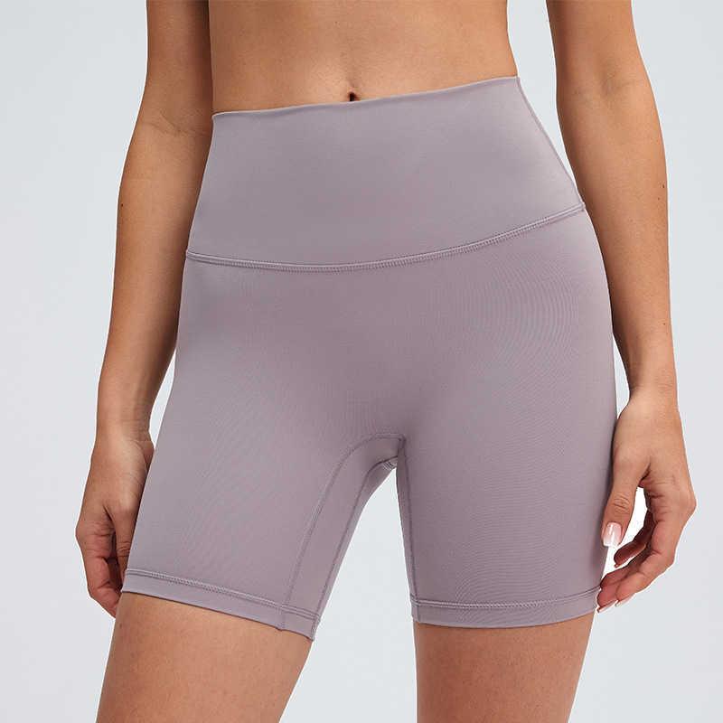 L-09 LULULEMON Yoga Shorts High-Rise Nake Feeling No T-Line Elastic Tight Pants Womens Sports Hot Trousers Yoga Outfits Sportswear Slim Fit Yoga Pants