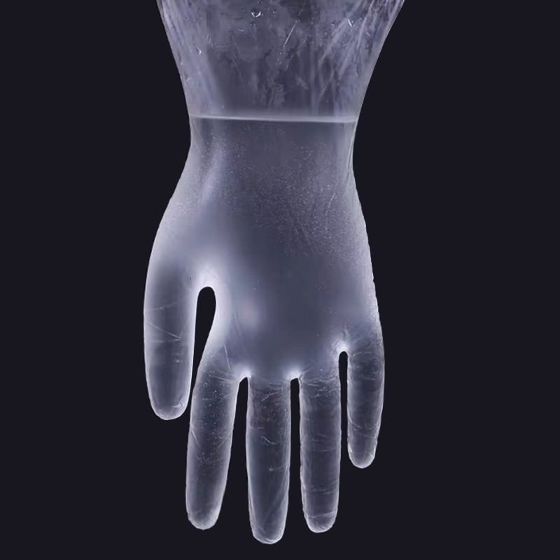 PVC Clear Protective Gloves Disposable Transparent PVC Gloves Hands Protective Gauntlets Household Protect High Quality Wholesale
