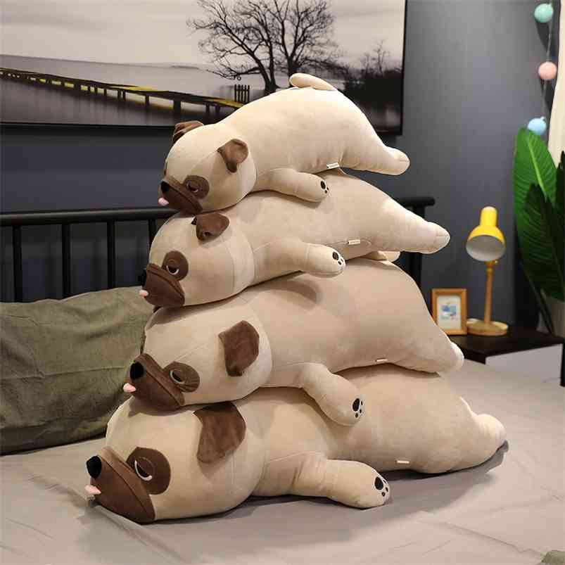 plush Pug toy stuffed plush animal Shar Pei soft doll dog plush toy pillow kids toys birthday gift for girlfriend 210729