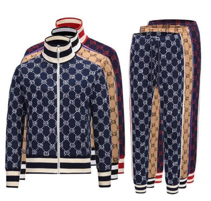 Men's fashion new designer Tracksuits men's Hoodie Jacket casual wear jogging Pants Set Asian size m-3xl