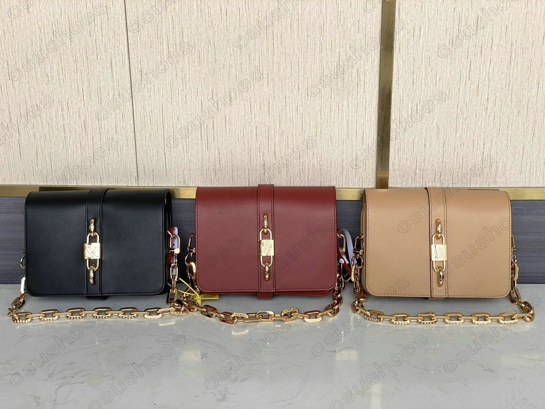 RENDEZ-VOUS Padlock Handbag Women Designer Handle Bag Calfskin Leather Cross Body Rendez Vous Chunky Chain Vintage-inspired Lock Shoulder Bags M57745 M57744 M57743