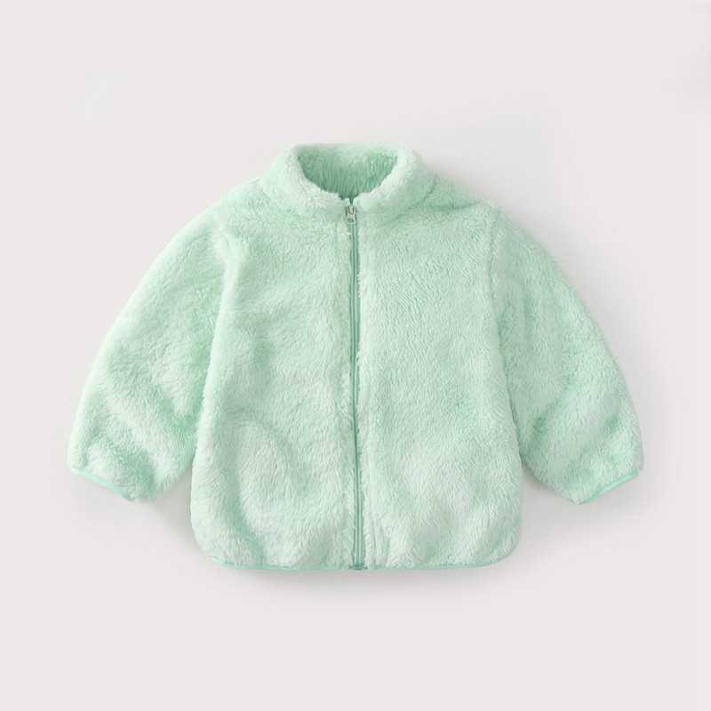 COOTELILI Fashion Fur Velvet Girls Boys Jacket Baby Girls Coat Fleece Warm Kids Jacket Snowsuit Baby Girl Hooded Outerwear (16)