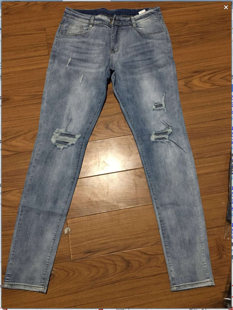Men Jean Pencil Pants Vintage Hole Long Denim Trouser Casual Ripped Jeans Hip Hop Streetwear Male Clothing 2020 New