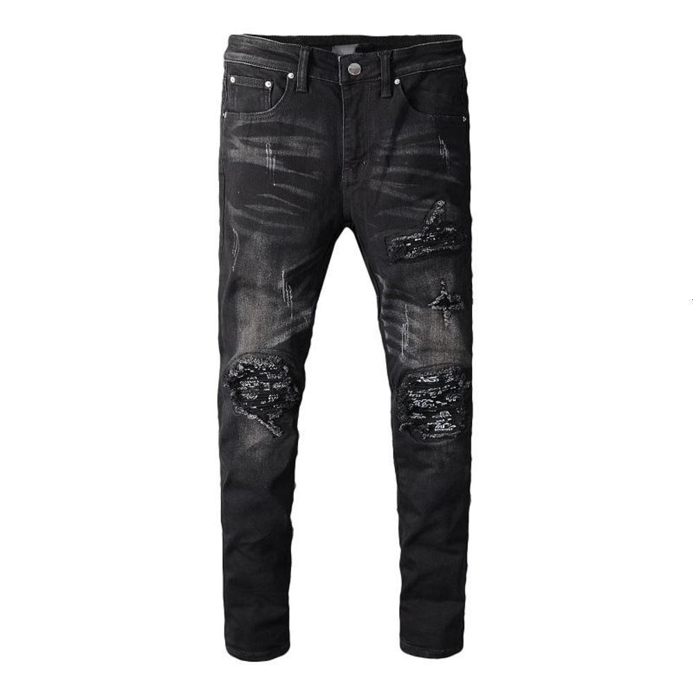 Mens stylist Jeans Men Women High Street Motorcycle Biker Ripped Jeans Hip Hop Casual Mens Skinny Jeans Denim Pants Size 28-40