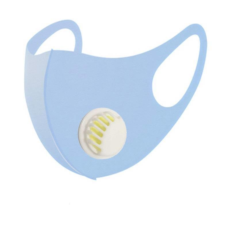 Ice Silk Valve Face Mask For Adult And Kids Solid Dustproof Sunscreen Breathable Mouth Mask Waterproof Protective Mask HH9-3049