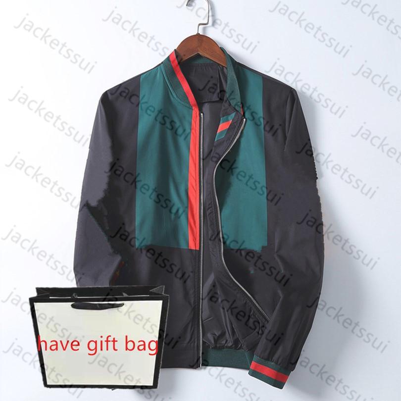 2022 Mens Designer Jacket Striped Slim Print Pocket Wind Casual Baseball Jackets Zipper Hoodies Coats