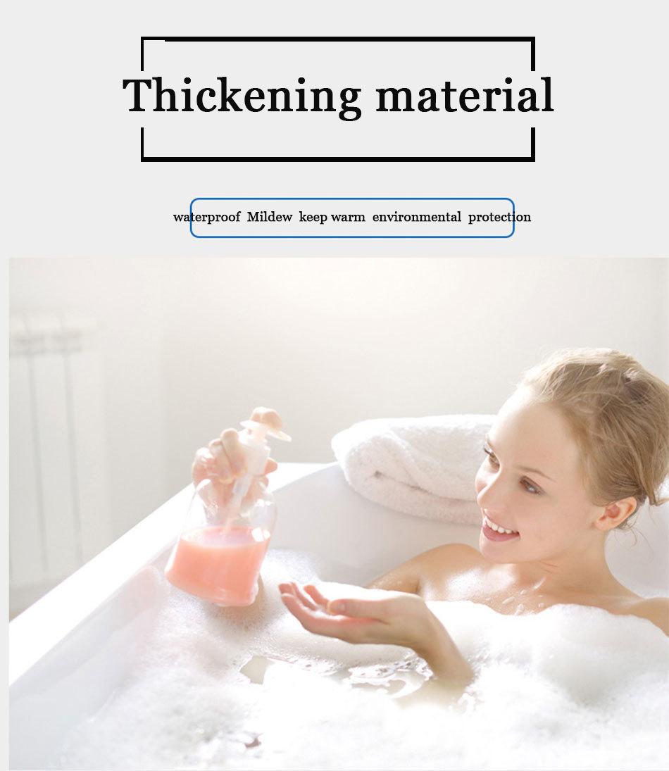 Eco-friendly Waterproof Shower Curtain Bathroom