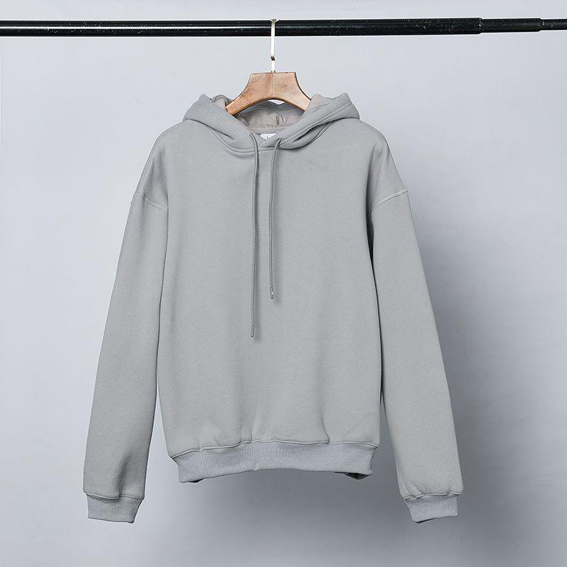 Air Fear of God Double Hood Hoodie Grey Brand Collab Casual Oversize Hoodie Pullover Sweater Jumpers Men Women Hip Hop Streetwear