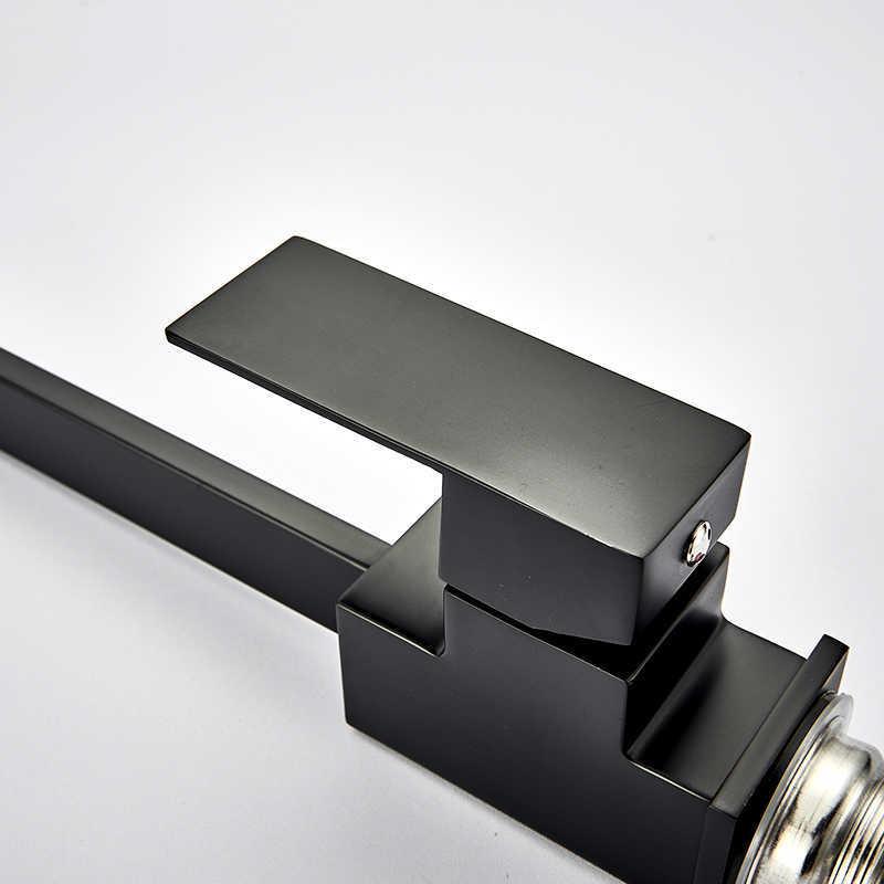 quyanre wanfan gappo Kitchen Faucets Brass Kitchen Sink Water Faucet 360 Rotate Swivel Faucet Mixer Single Holder Single Hole Black Mixer Tap113