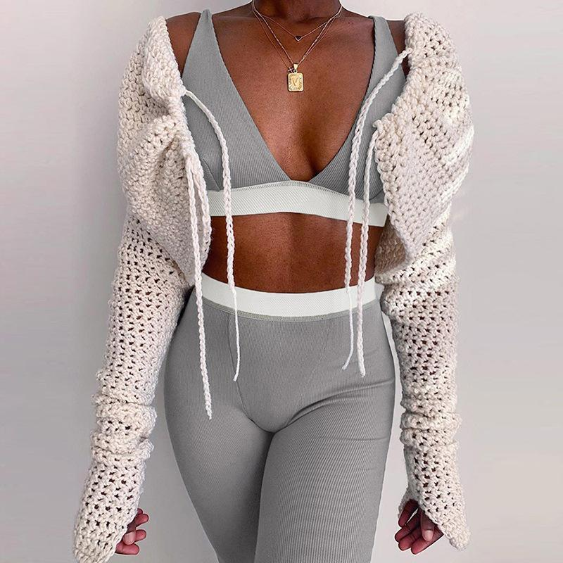 Womens sexy 2 two piece tracksuits backless deep V bra high waist leggings pants sports suit casual sportswear jogging nightclub clothing