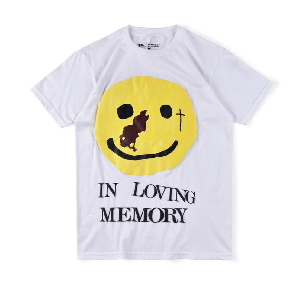 20ss Ins Hot American CPFM.XYZ Yams Day In loving Memory Smiley Tee Skateboard Mens designer t shirt Women Street Luxury Casual Tshirt