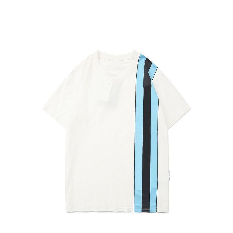 Fashion Mens T Shirts Letters Stripes Stylist Tshirts 2021 Hight Quality Men Women Couple Short Sleeve Tee