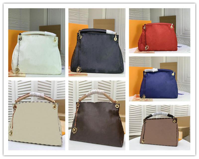 Designer Artsy MM Empreinte Handbag Infini M40249 Genuine Leather Tote Bag Artsy MM Cream Damier Azur Shoulder Bag Purple SIZE:46*32*24CM