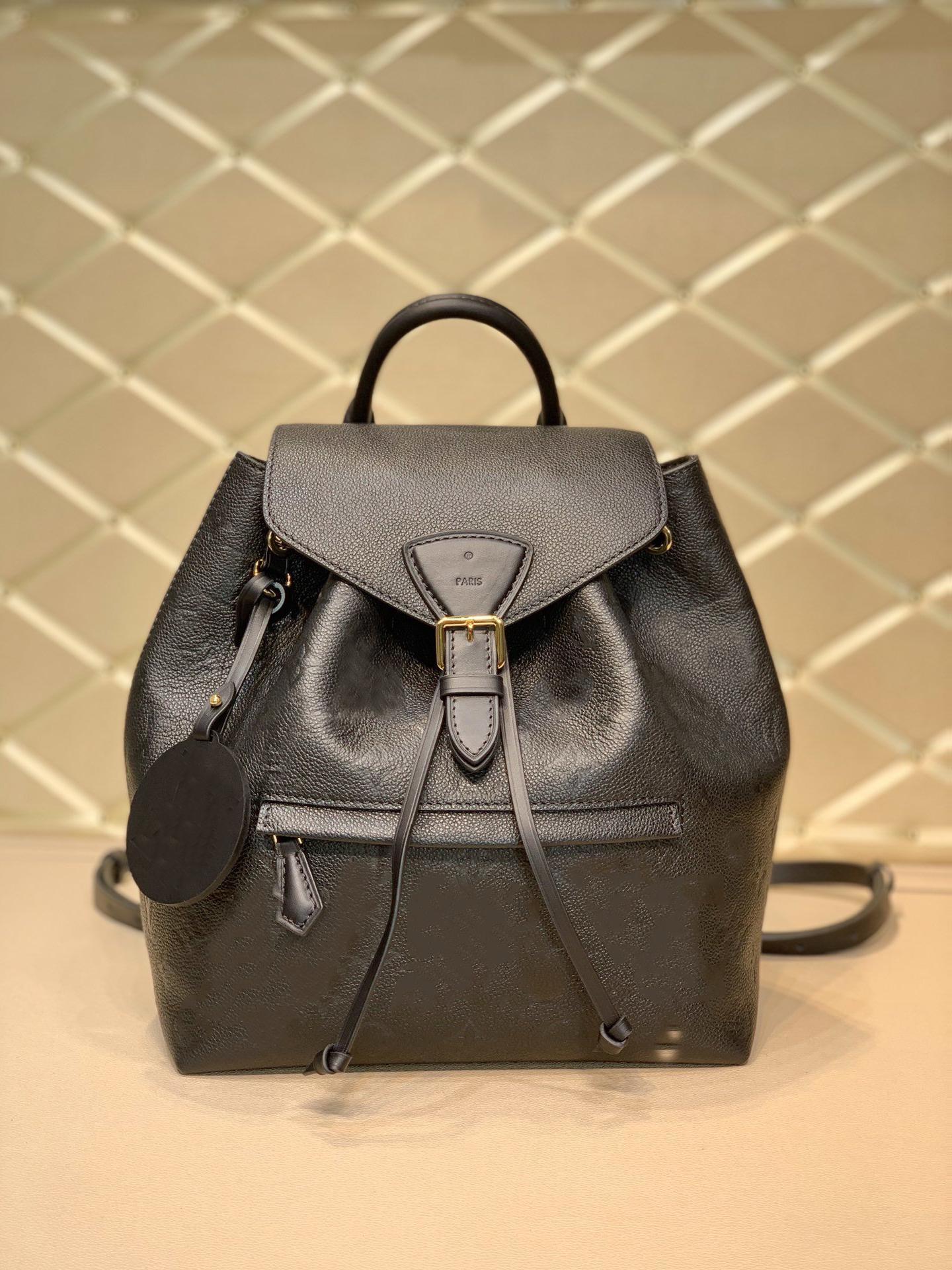 MONTSOURIS Empreinte Backpack Mens Womens Backpacks Flower Letter Leather Pattern Embossed Montsouris Purses Bags M45205 M45410 M45397