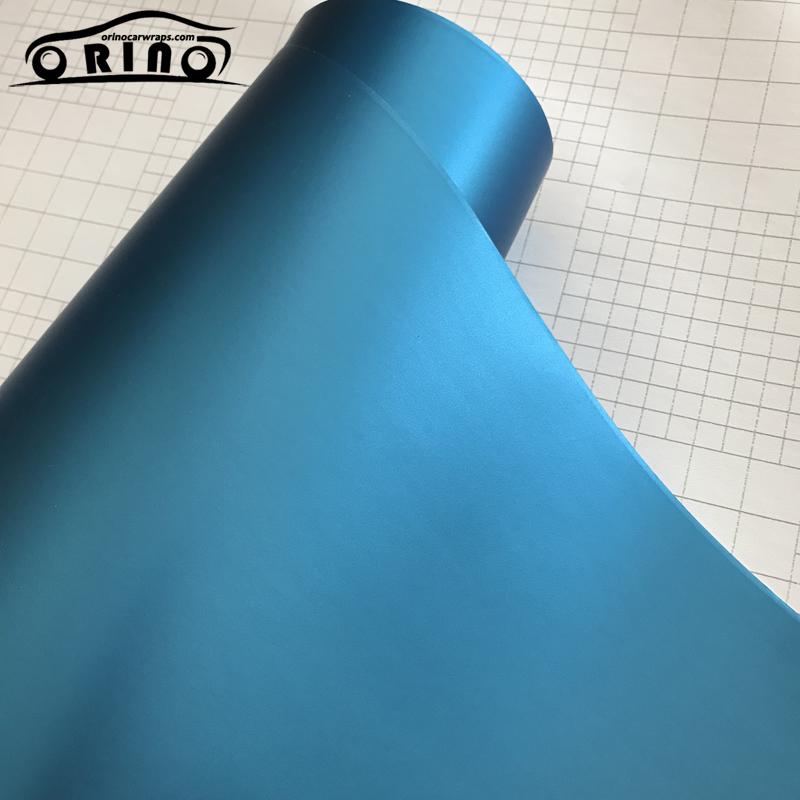 Light Blue Metallic Vinyl Film Wrap-2