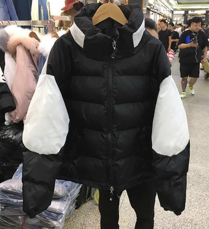 2020 Web celebrity the same winter coat new loose down jacket thickened warm alphabet coat coat female