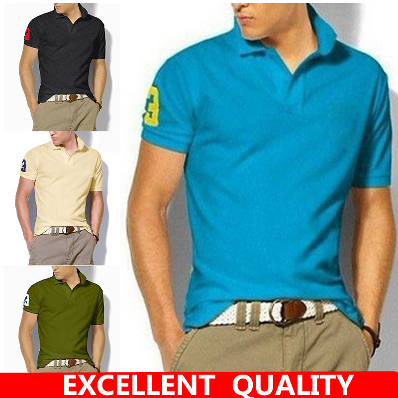 Summer short Sleeve Polo Shirt men fashion polo shirts casual Slim Solid color business men's polo shirts men's clothing S-5XL