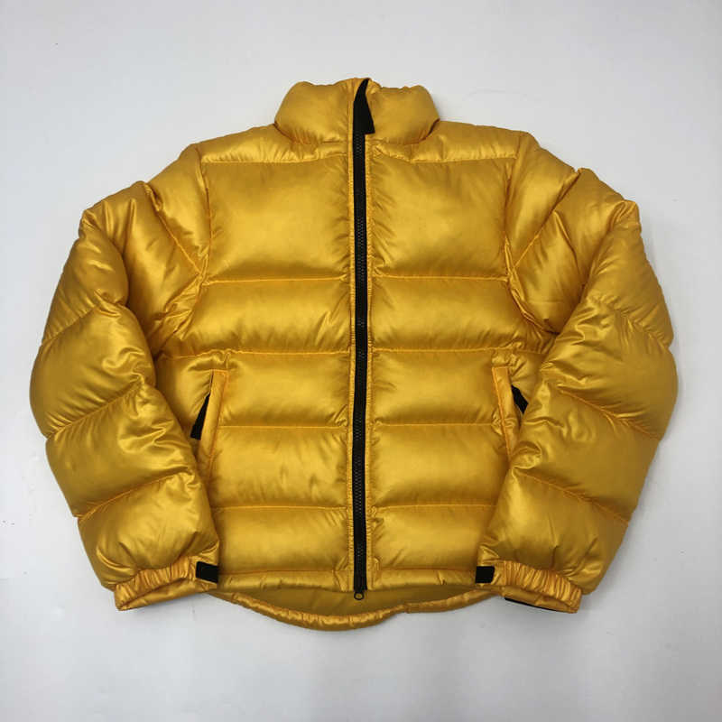 2021 down jacket men's outdoor warm down jacket winter down jacket filled hooded heavy coat letter Black Parka