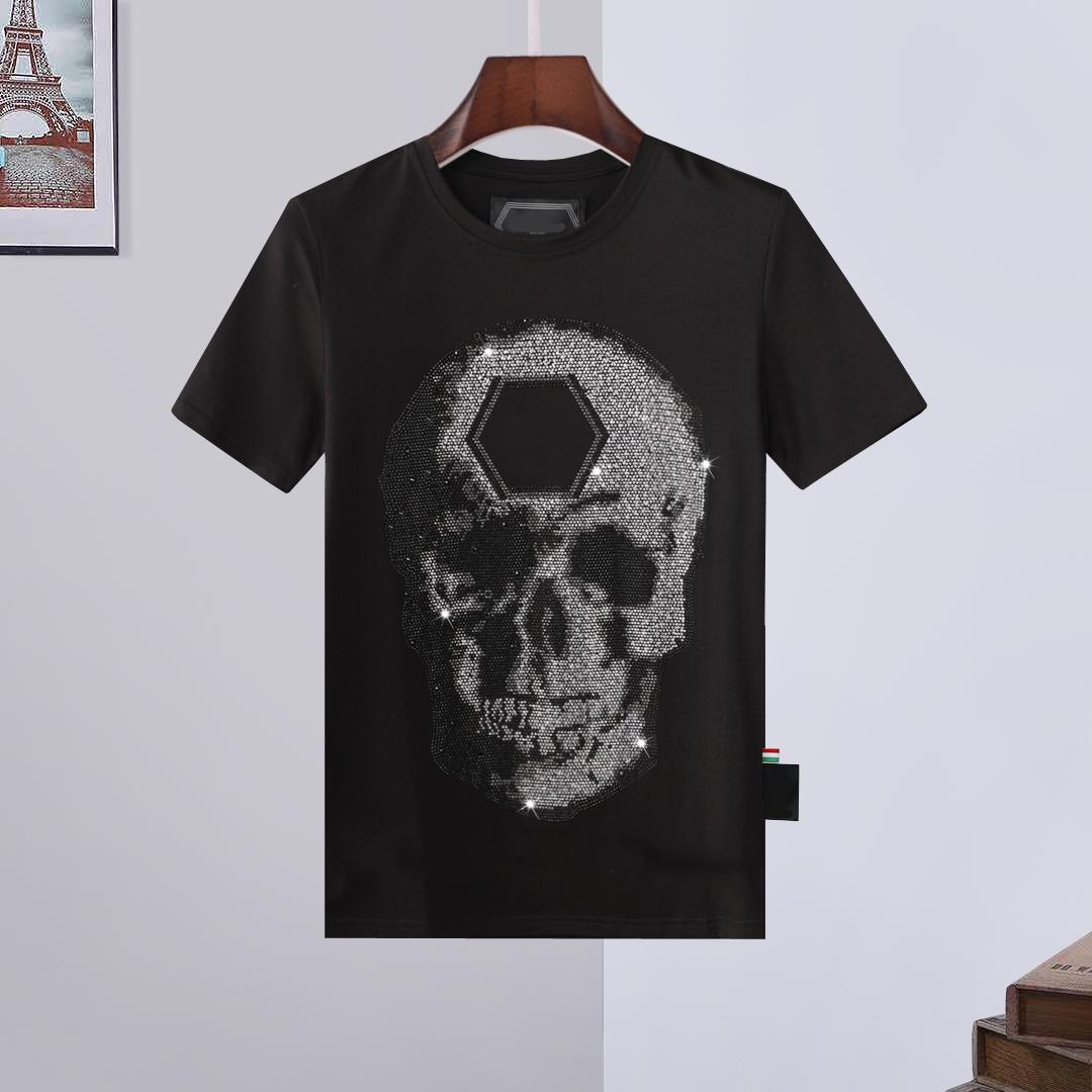 2021 Summer Plain Men's T-Shirts Cotton Women Clothes Funny Short Sleeve O Neck Tees Printing Phillip T-Shirts PP Size :M-L-XL-XXL-XXXL top007
