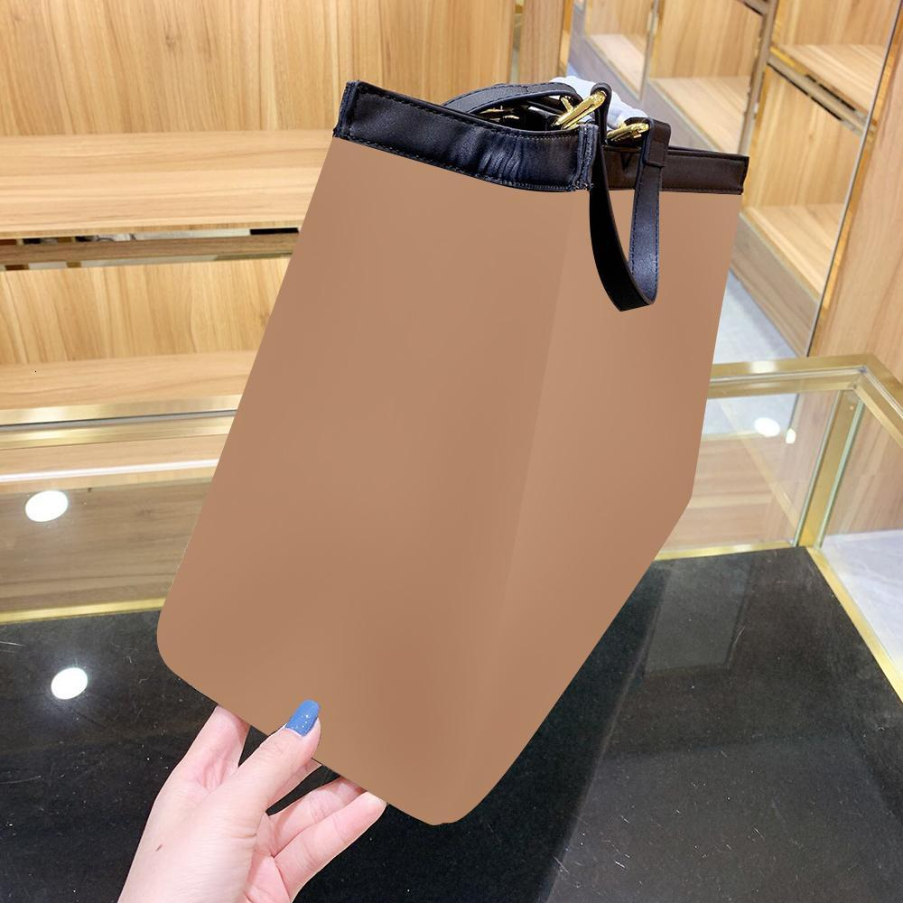Luxury Designer Brown Embroidery Stripes Canvas Tote Handbags Shoulder Shopping Messenger Bags for Women High Capacity Bag