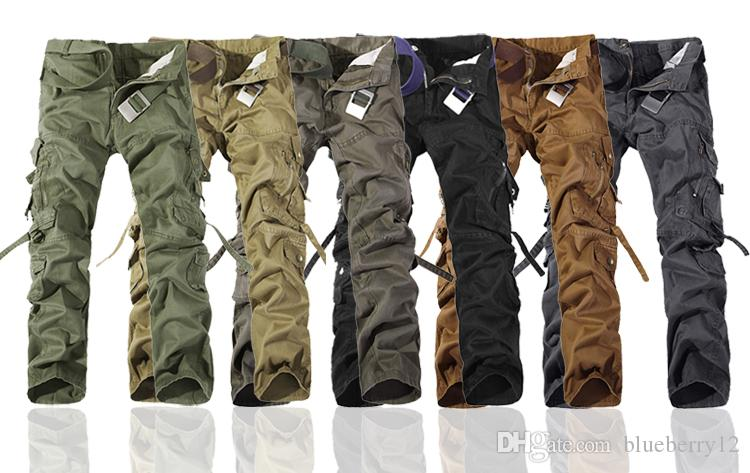 2017 Worker Pants CHRISTMAS NEW MENS CASUAL ARMY CARGO CAMO COMBAT WORK PANTS TROUSERS SIZE 28-38