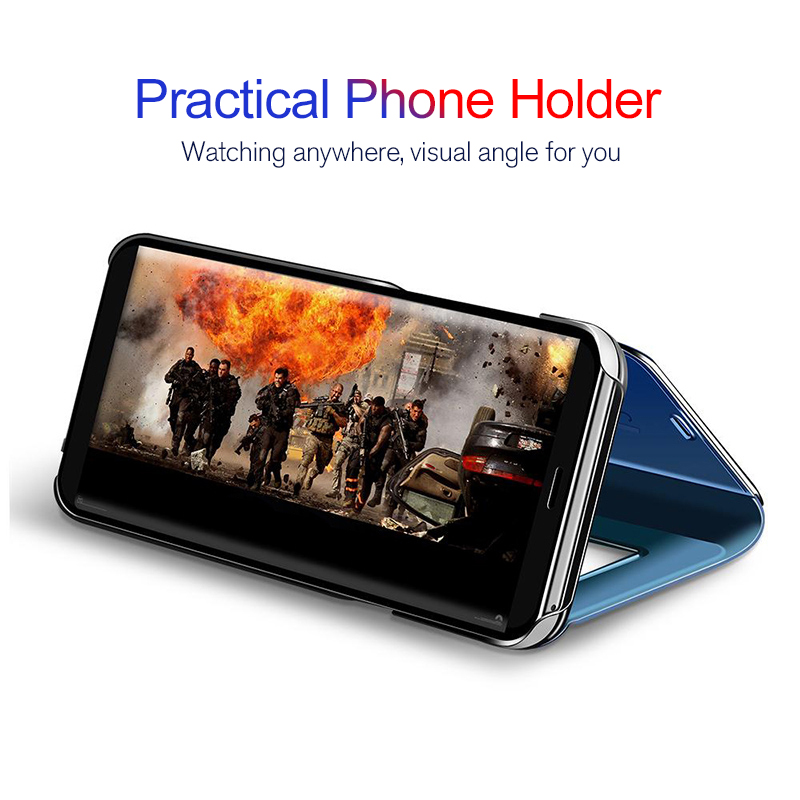 For-Huawei-P20-Pro-P9-P10-Plus-Slim-Clear-View-3D-Smart-Mirror-Leather-Flip-Stand