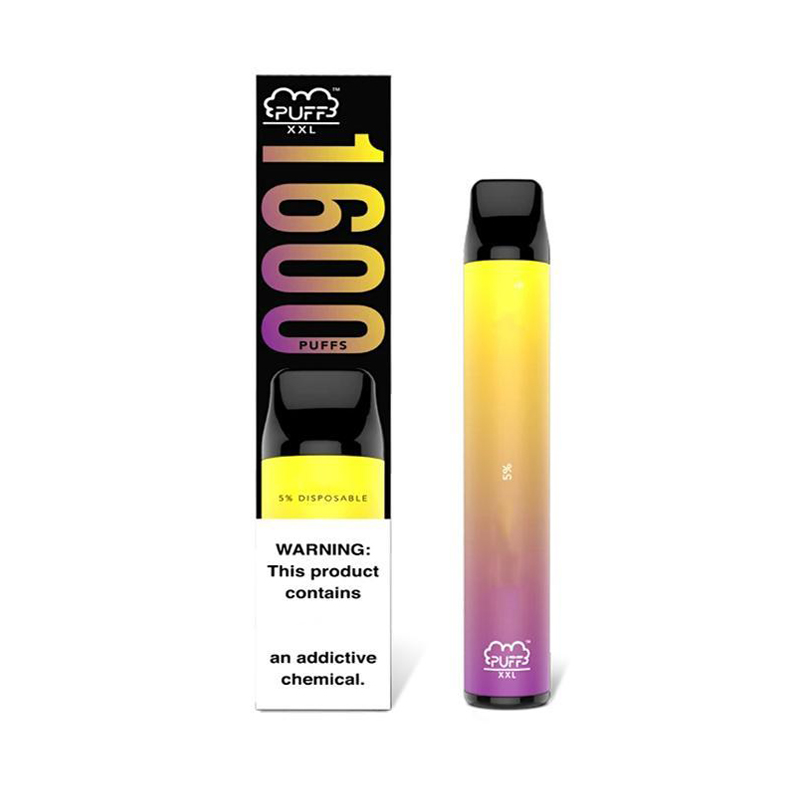 High Quality Puff Bar PUFF XXL Vape Pen 1600+ Puffs Disposable Vape puff bar plus max double bang xxl air bar lux