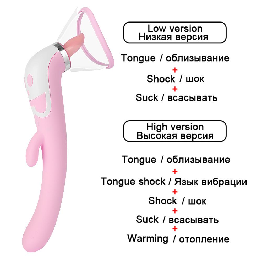 Pussy Dildo Vibrators toys for adults Vagina Nipple Sucker Licking Clit Stimulation Heating Vibrators for Women Intimate Goods (2)