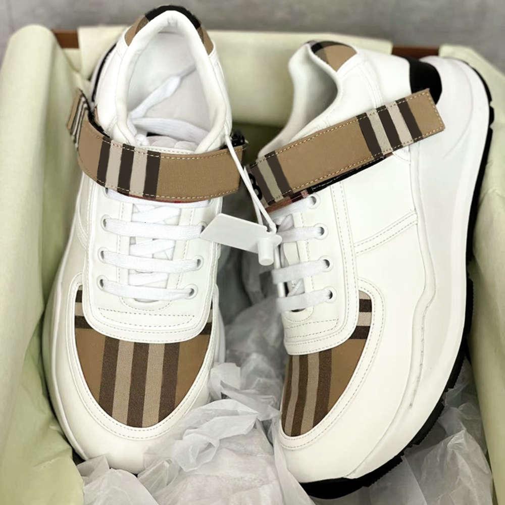 Men Shoes Vintage Check Sneakers Women Hool Loop Platform Sneaker Suede Leather Trainers Black White Mesh Runner NO281 B4UP