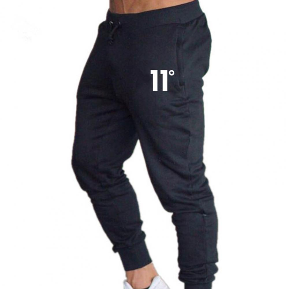 2021 Sports Pants Number Print Ankle Tied Cotton Blend Men Pockets Slim Trousers Sweatpants for Fitness Summer Sports Pants Cotton