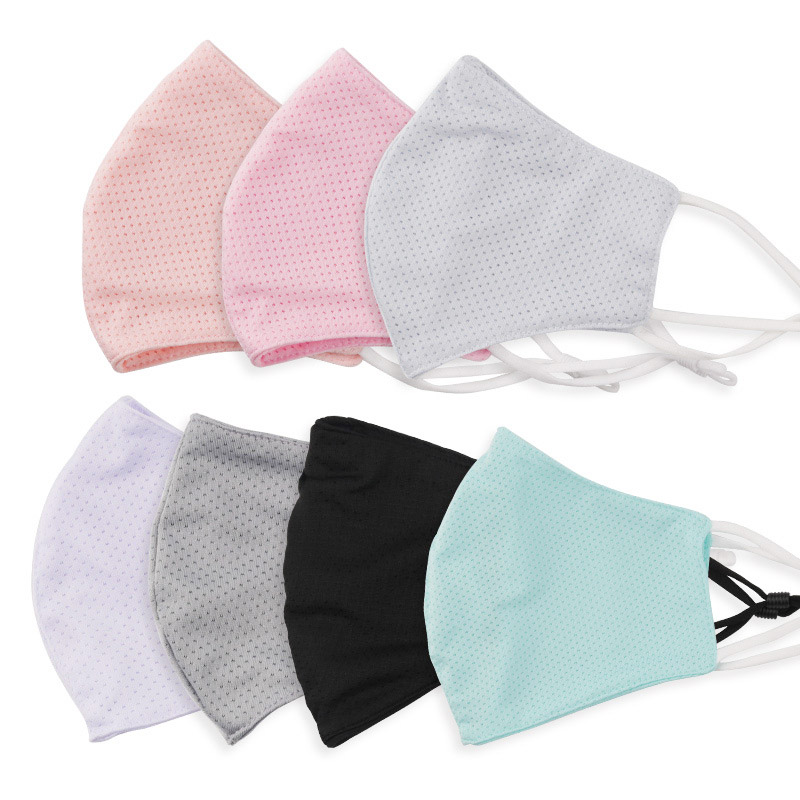 Ice Silk Cotton Mask Breathable Sunscreen Soft Cloth Face Mask Washable Outdoor Adult Dust proof Comfortable Black Cotton Face Mask Reusable