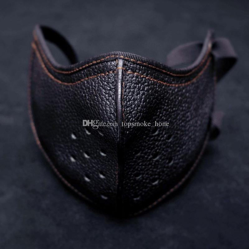 Punk Style Pu Leather Face Mask Outdoor Sport Cycling Mask Casual Street Trendy Isolation Mask Bandana Fashion Health Care