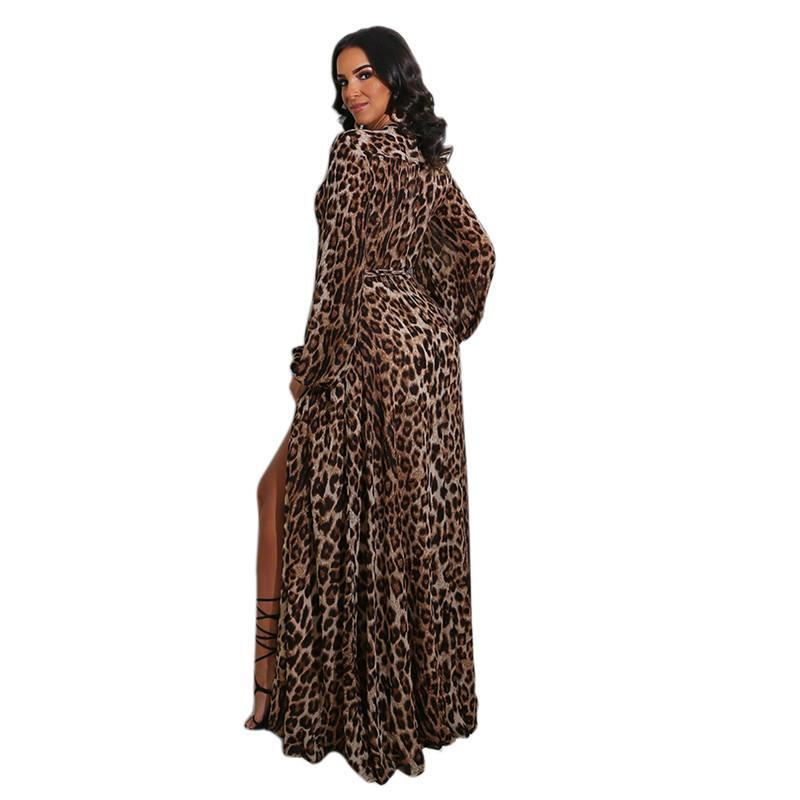 Women Casual Maxi Dresses sexy club summer fall clothes long sleeve beachwear elegant pencil dresses v-neck holiday party dress stylish 0776