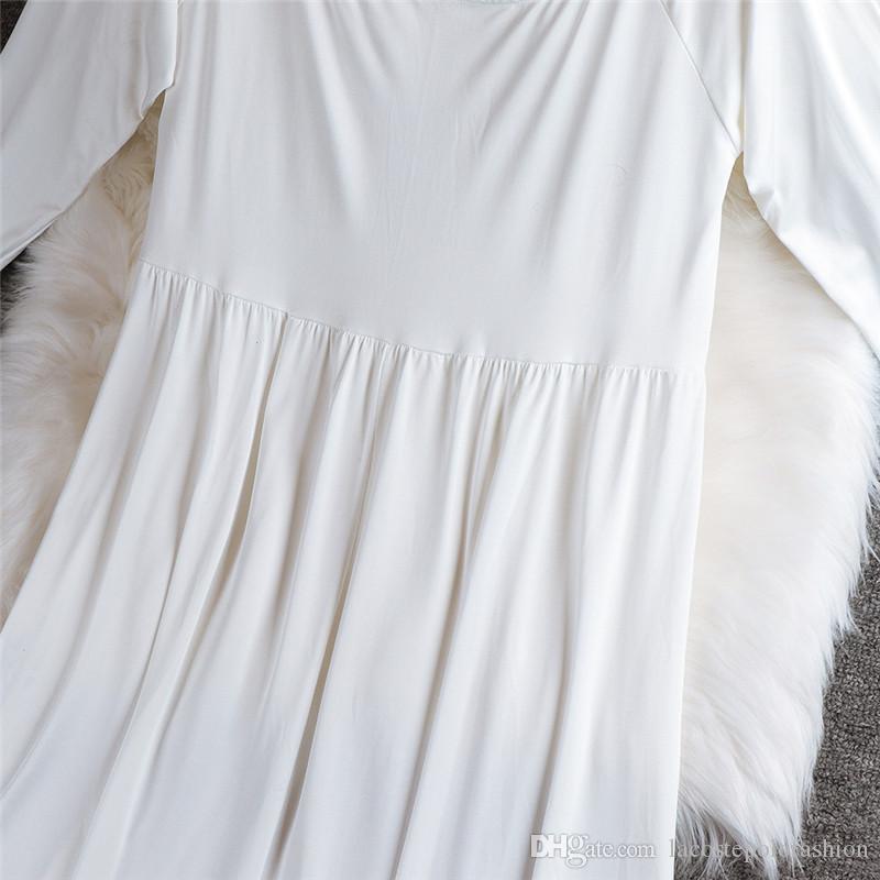 Dresses Slash Neck Long Sleeve Expectant Mothers Summer Dress Womens Casual Maxi Dress Womens Designer Maternity