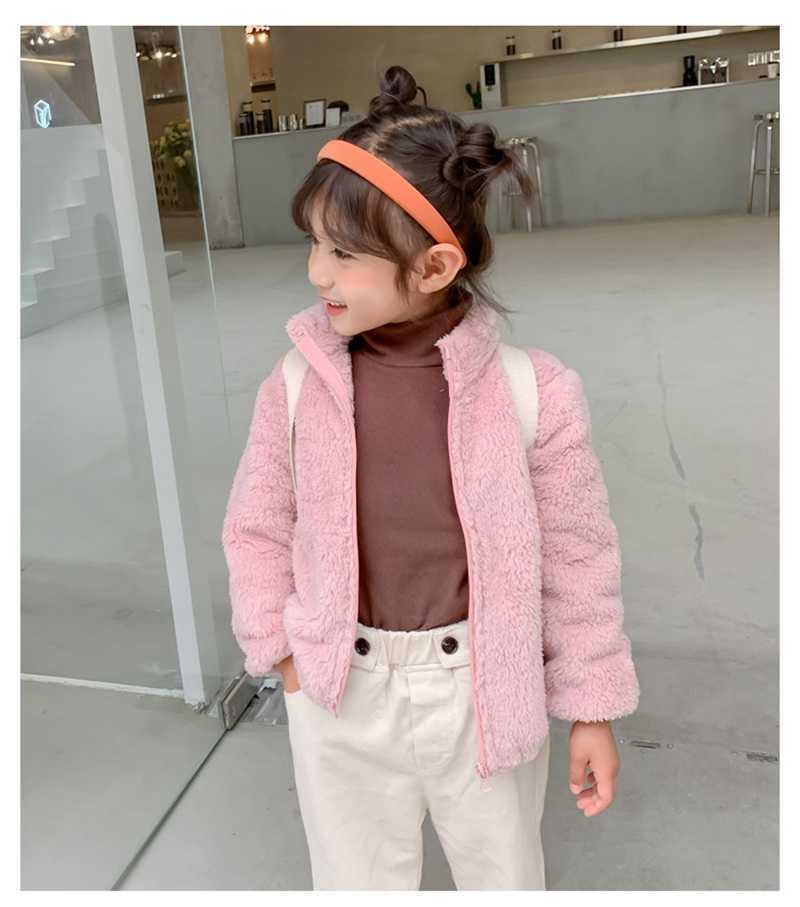 COOTELILI Fashion Fur Velvet Girls Boys Jacket Baby Girls Coat Fleece Warm Kids Jacket Snowsuit Baby Girl Hooded Outerwear (11)