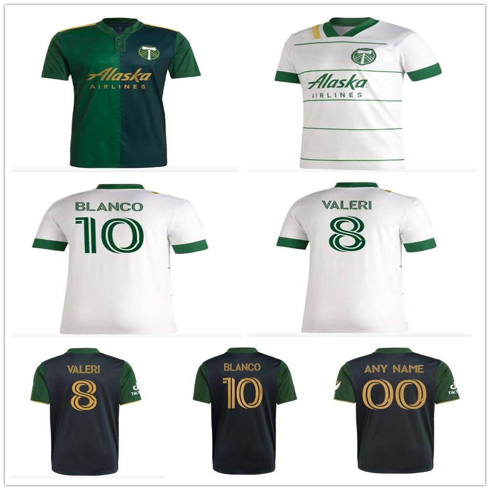 2021 2022 mls portland timbers soccer jerseys VALERI BLANCO CHARA Customize 21 22 portland Home Black Adult football shirt Man Uniforms