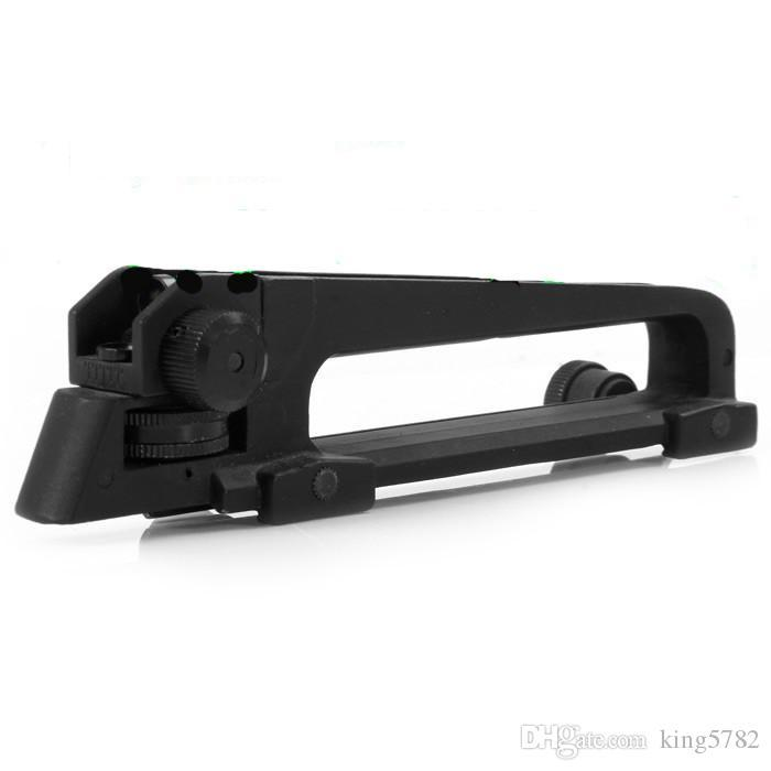 Carry Handle and rear sight W/ See through Picatinny Rail Mount Combo M4 M16 AR15