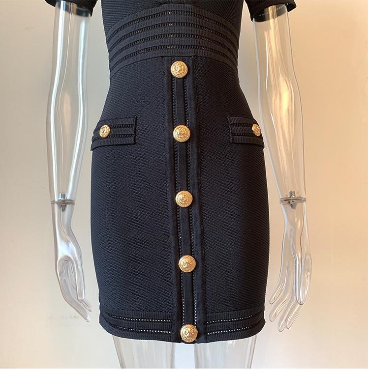 719 2020 Summer Brand Same Style Empire V Neck Flora Print Panelled Short Sleeve Prom Dress OUSHALI