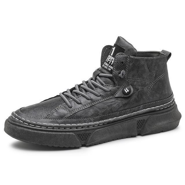 2020 Men shoes Fashion Leisure shoes Non slip rubber soft bottom Ventilation High top flat Casual shoes Four seasons Sports SG200