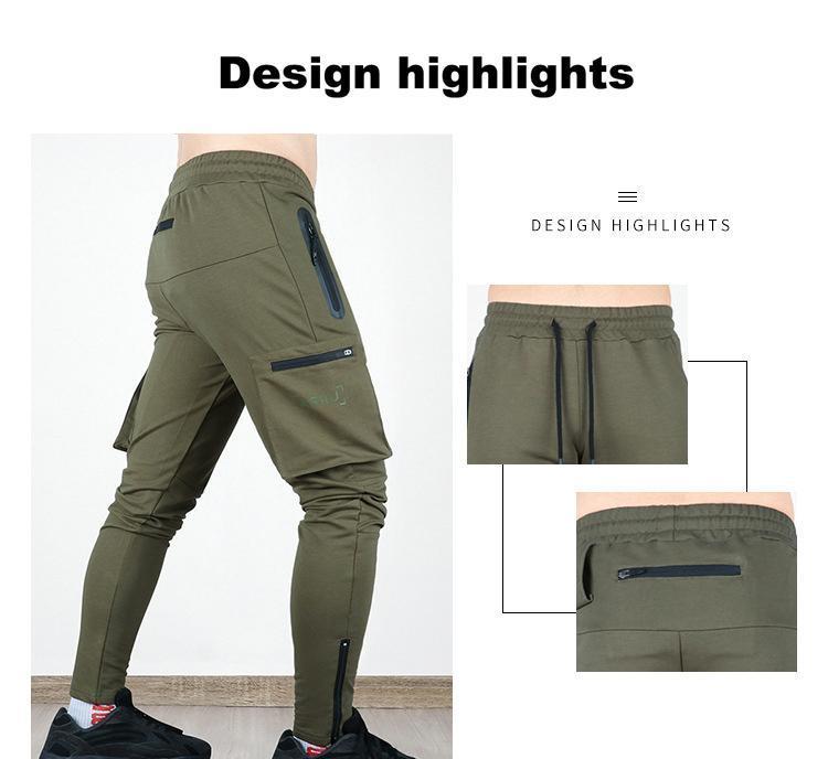 ASRV Autumn Men Pants Hip Hop Harem Joggers Pants New Male Trousers Mens Solid Multi-pocket Cargo Pants Skinny Fit Sweatpants