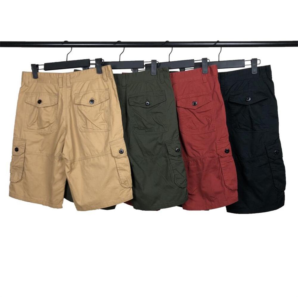 Men's Shorts Summer Classic Pants Fashion Outdoor Cotton Cargo Shorts Badge Letters Middle Pants Hip Hop fifth Pants Casual Men Clothing