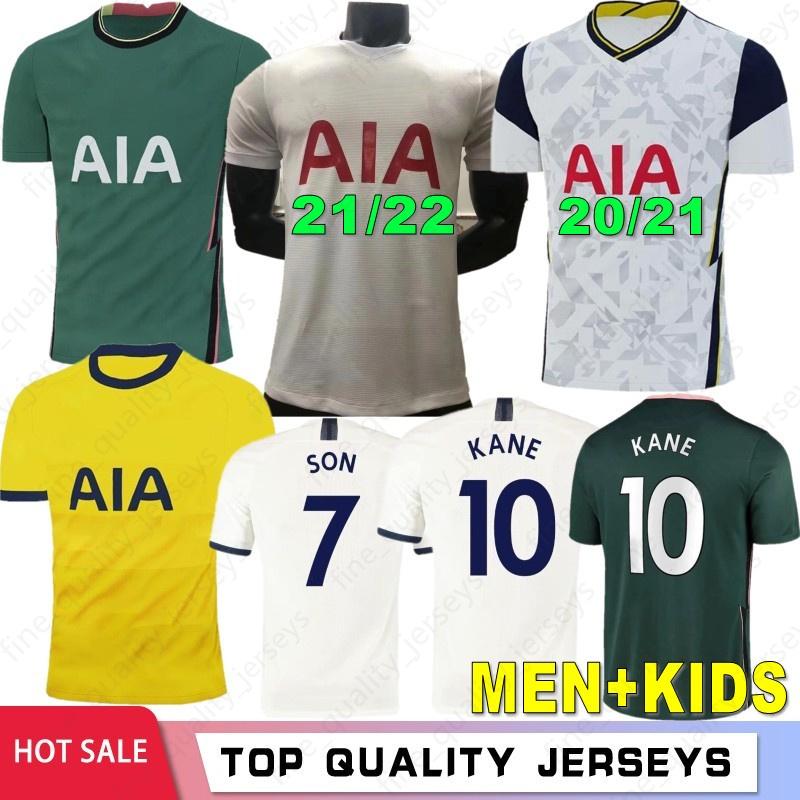 21 22 KANE SON BERGWIJN NDOMBELE Soccer Jerseys 2020 2021 Thailand Tottenham DELE jersey Men + KIDS Football shirt LO CELSO BALE LAMELA 4TH